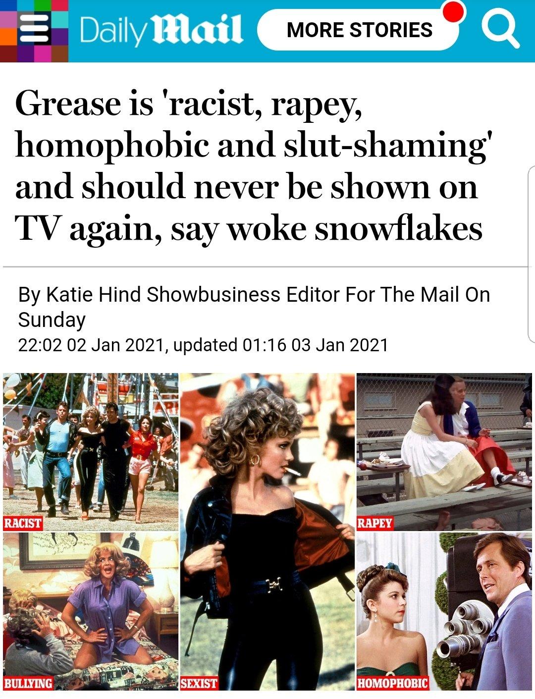"""Grease """"sessista"""" è una non notizia"""
